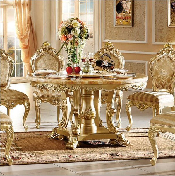 hot selling Antique Style Italian small table, 100% Solid Wood Italy Style Luxury tea Table Set chairs pfy10086