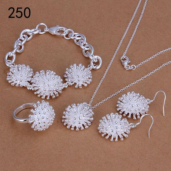 free shipping mix style same price women's sterling silver plated jewelry sets,fashion 925 silver Necklace Bracelet Earring Ring set GTS39a