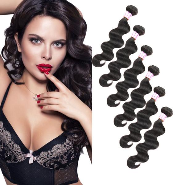 Бразильские девственные человеческие волосы ткет Dhgate On Sales Объемная волна Мокрое и волнистое наращивание человеческих волос Перуанский Малайзийский Индийский Камбоджийский Монгольский