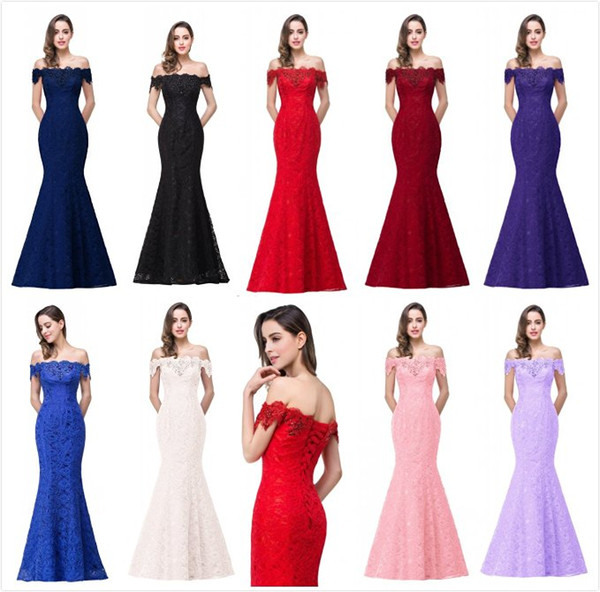 Cheap Modest Red Mermaid Lace Wedding Dresses Sexy Off the Shoulder Cap Sleeves Long Chinese Wedding Dresses Formal Gowns CPS199