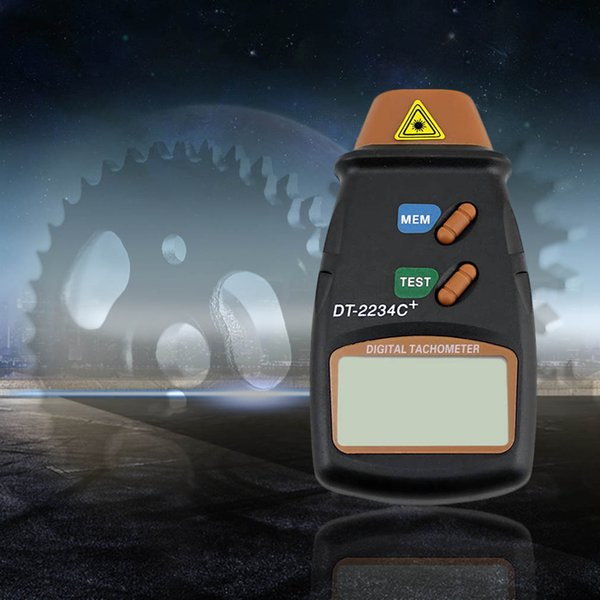 Large LCD displaying New Digital Laser Photo Tachometer Non Contact RPM Tach nice shape easy to use
