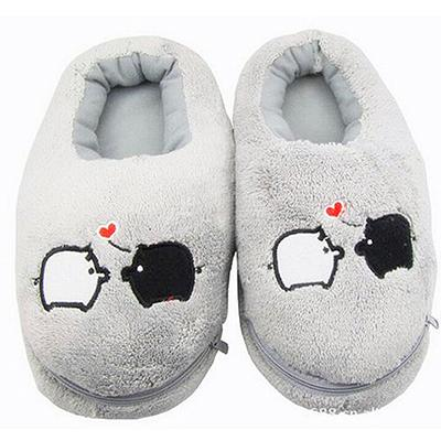 f3b3c937b4ac Wholesale- 2017 New Safe and Reliable Plush USB Foot Warmer Shoes Soft Electric  Heating Slipper Cute Rabbits