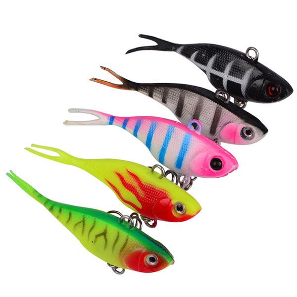 New Plastic Vibration false fishing lure 7.8cm 9g 5colors Simulation fish Freshwater Diving Fishing Baits