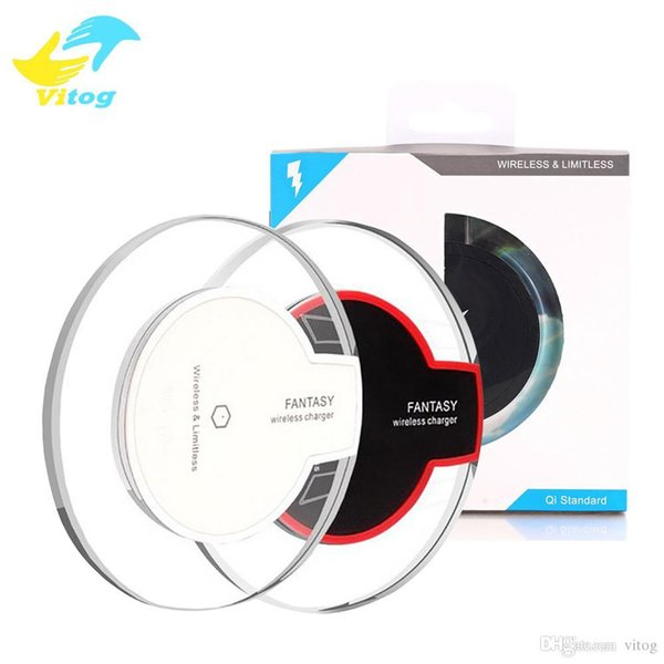 High Quality Qi Wireless Charger Charging For Samsung S6 Edge s7 edge s8 plus iphone 8 X Fantasy High Efficiency pad retail package