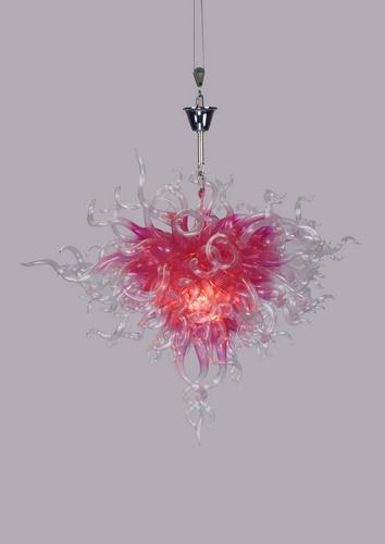 Barato Sala de estar Chihuly Lustres Rosa Mini Murano Contemporânea Sala de Jantar Cadeia Moderna Pendurado Lustre LED