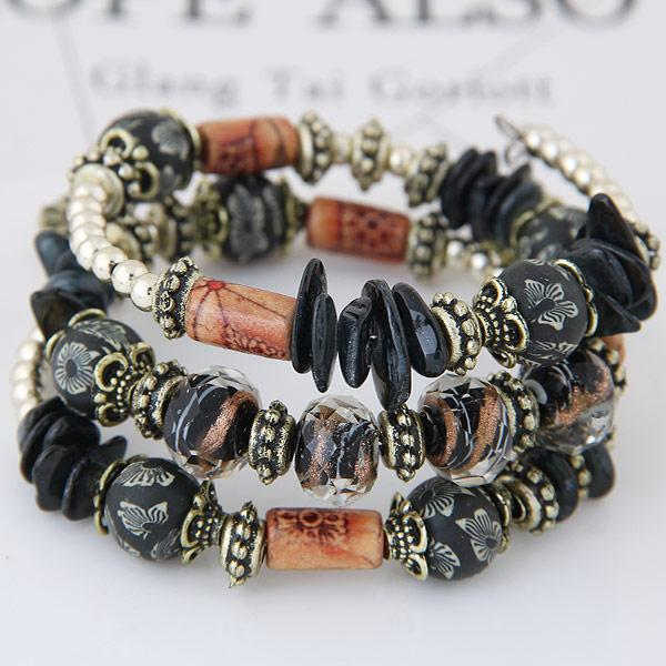 Bohemian New Shell Turquoise Stone Bracelet Multilayer Beads Strand Bracelets & Bangles For Women Pulseras Mujer