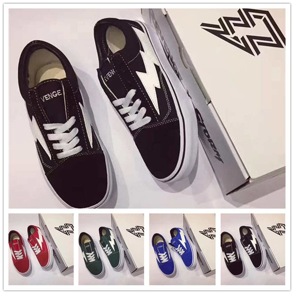 2017 Revenge X Storm Old Skool Skateboarding Shoes Men Women Forest Green Red Black Blue Sneakers Summer Size36-44