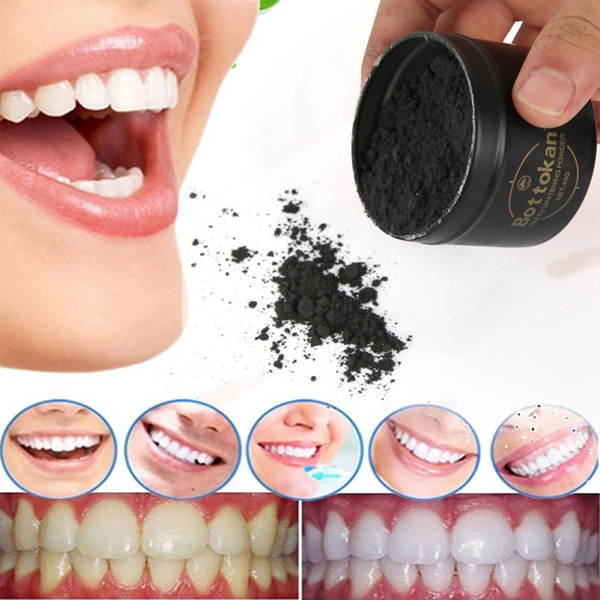 Teeth Whitening Bamboo moon Charcoal Powder Oral Hygiene Cleaning Teeth Plaque Tartar Removal Stains moderate Teeth White strips Powders