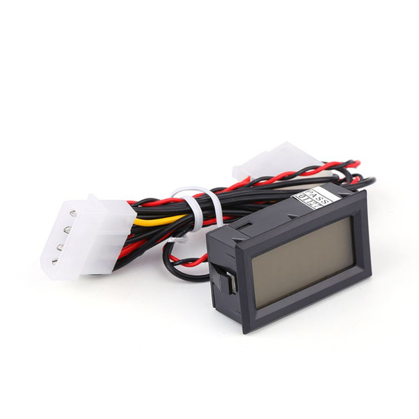 Freeshipping 4 pçs / lote LCD Digital Temperatura Termômetro Medidor Medidor PC Car Mod C / F Panel Mount