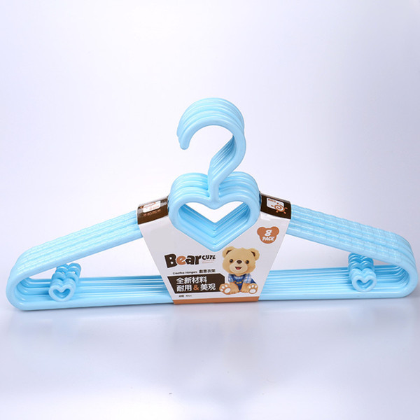 39cm New Design Heart PP Hangers for Coat Tops Suit Clothes Skirts Storage Hanger Clothing Shop Racks