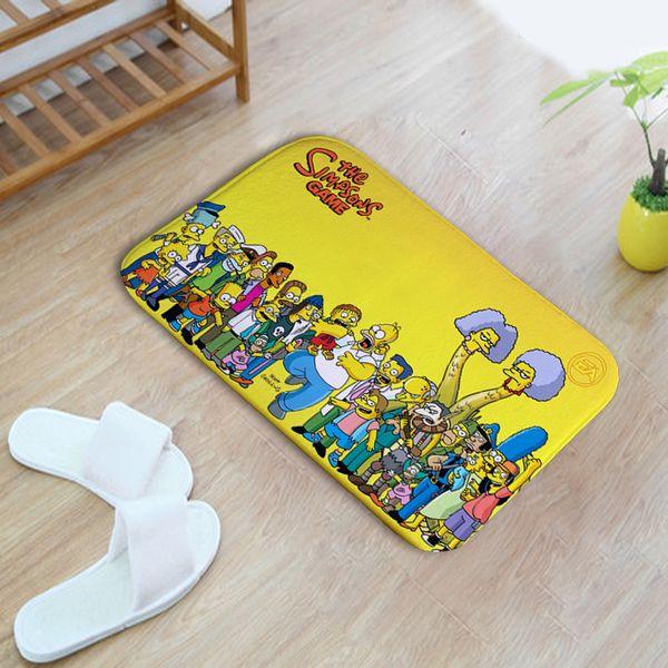 Printed Mat Cartoon Capacho 3D Doormat Outdoor Anti-slip Kid Room Carpet Polyester Floor Mat For Bathroom Kitchen Entrance Rug