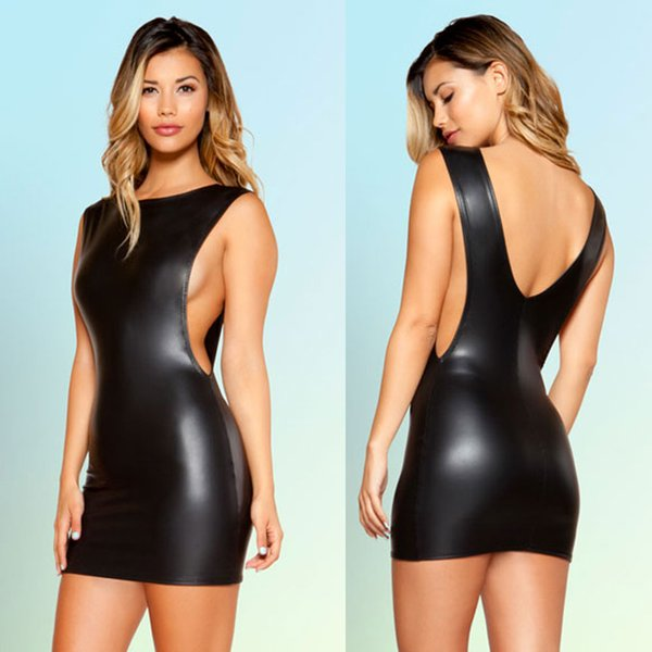 EXOTIC Sexy Nightclub stripper evening Cocktail PVC Party fancy dress Outfits 1088 MXL