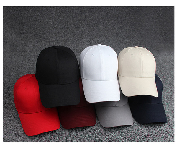 Free shipping 8 solid colors custom cap baseball for man/women lead light baseball cap sport snapback fit baseball cap