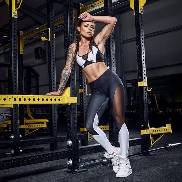 Woman Yoga Sets Sports Bra and Leggings Female Slim Sportswear Running Jogging Women's Fitness Gym Stretch Sport Suit Clothing HGE