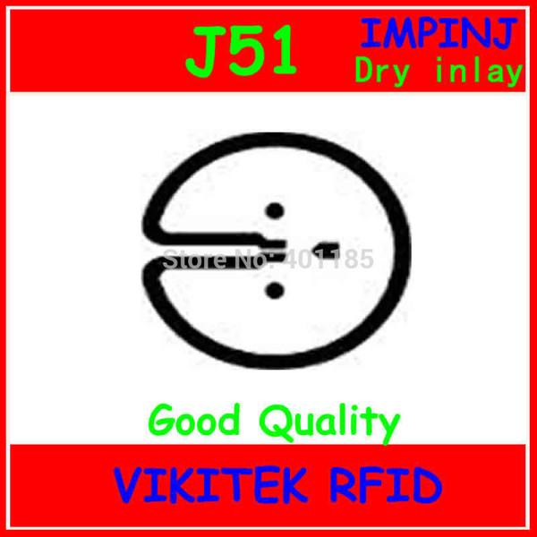 Wholesale- Impinj J51 UHF RFID dry inlay 860-960MHZ Monza5 915M EPC C1G2 ISO18000-6C can be used to RFID tag and RFID label