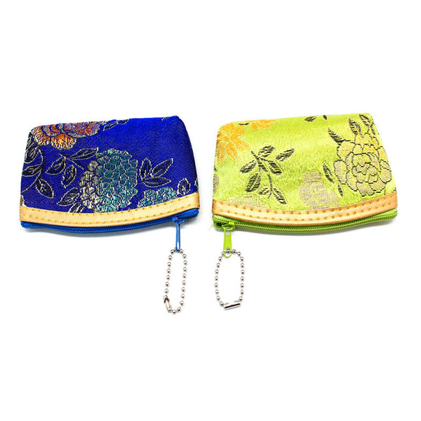 Factory direct sale retro tang suit the new gorgeous girl change purse Exquisite embroidery zero wallet To receive a package