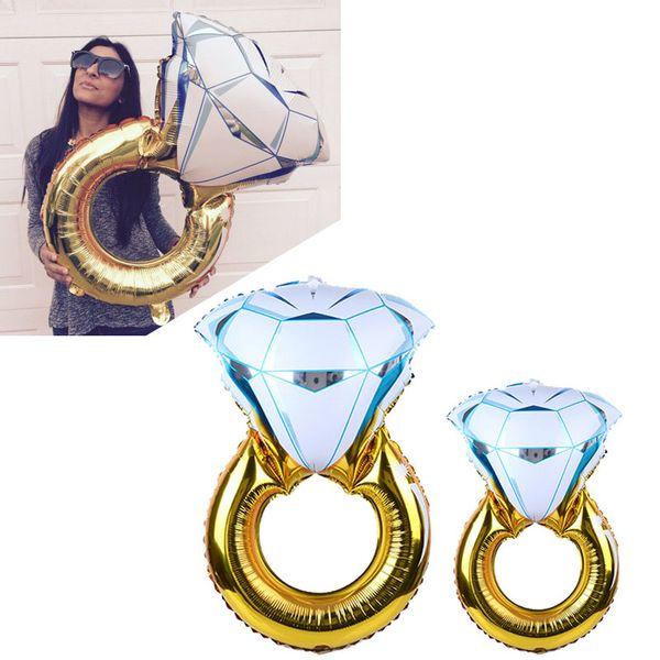 Large Size Lover Hochzeit Ehe Party Hochzeit Ballon - Diamond Bride Ring Engagement Folienballons - Party Toys Supplies