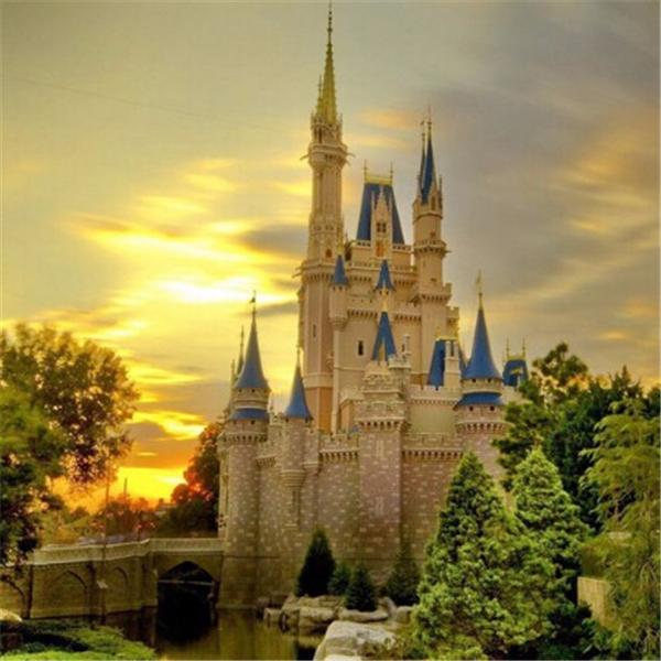 best selling New DIY 5D Mosaic Diamond Painting Cross Stitch kits scenery castle full Resin square Diamonds Embroidery needlework Home Decor zf0133