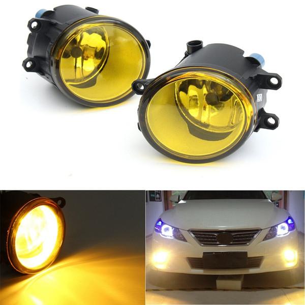 1pair 55W LED Yuvarlak Ön Sağ / Sol Sis Işık Lambası DRL Gündüz Sürüş Toyota / Camry / Carola / Vios / RAV4 için Lights Koşu