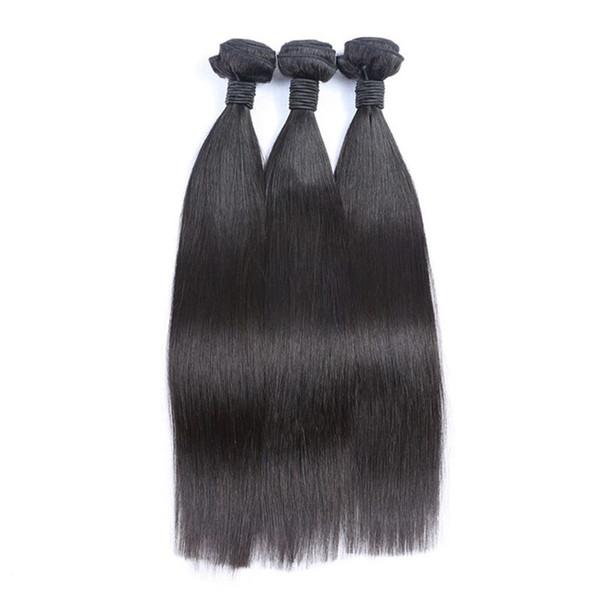 unprocessed human hair extenisons peruvian straight human hair weaves bundles no shedding tangle free
