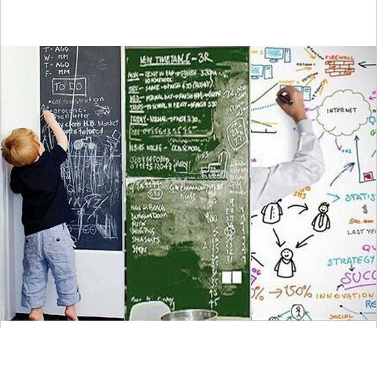 Wall Stickers Blackboard/Greenboard/Whiteboard Children Drawing Toy Removable Vinyl Draw Decor Mural Decals Art Chalkboard 45*200CM