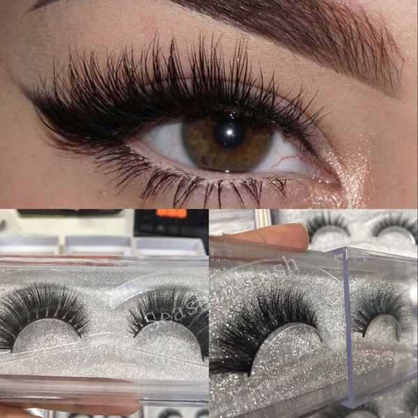 High Quality Handmade 3D mink lashes strip Luxury thick fake faux eyelashes Makeup beauty 10pairs lot