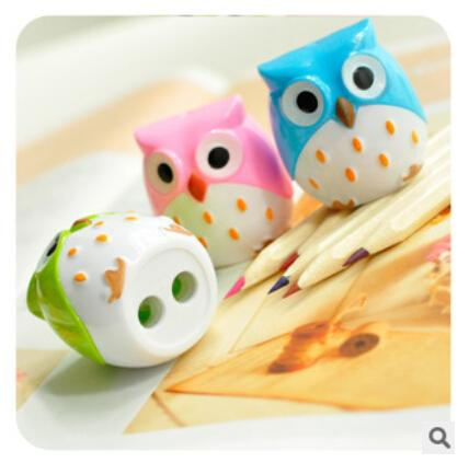 Wholesale- Free shipping Kawaii Owl Pencil Sharpener Cutter Knife Promotional Gift Stationery