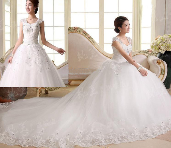 Discount 2014 New Arrival Luxury Sweetheart Applique Tulle Bridal ...
