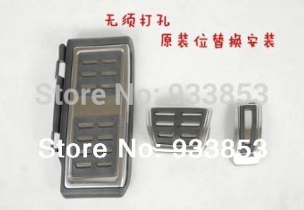 Al por mayor-2014 de acero inoxidable pedal de transmisión automática AT (Incluir reposapiés + Gas + pedal del freno) Por LHD MK7 7 VII