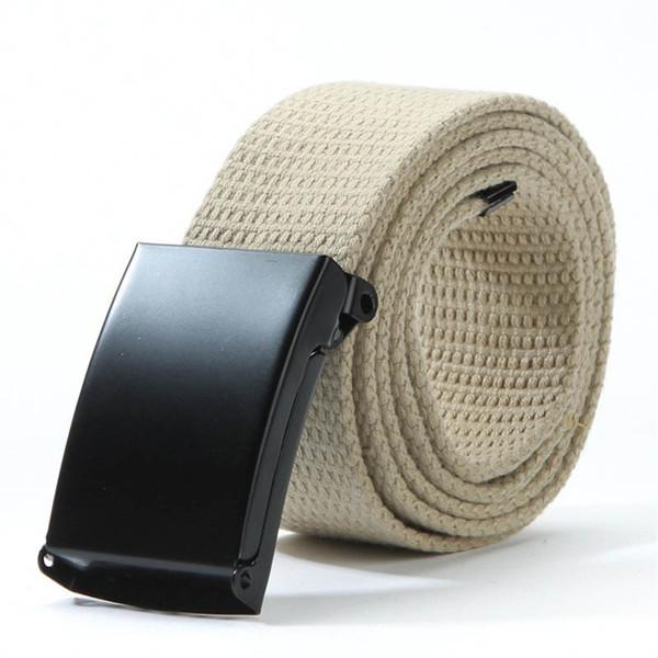 Wholesale- Free Shipping Men Belts 18 Colors Unisex Plain Webbing Men Women Waist Belt Casual Canvas Elastic Waistband Leisure For people