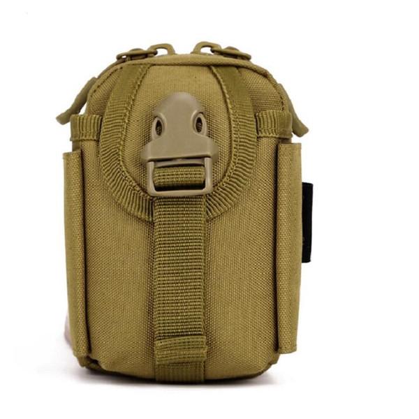 Atacado Ao Ar Livre Pequeno Cintura Pacote de Ferramentas Campo Acessório Tático Preto Mini Telefone Móvel Chave Saco Frete Grátis