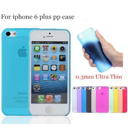 Ucuz 0.3mm Ultra İnce İnce Mat Buzlu Şeffaf Esnek PP Kapak Kılıf Cilt Için iPhone X 10 8 6 6 S 7 Artı 5 5 S Samsung S6 S7 kenar