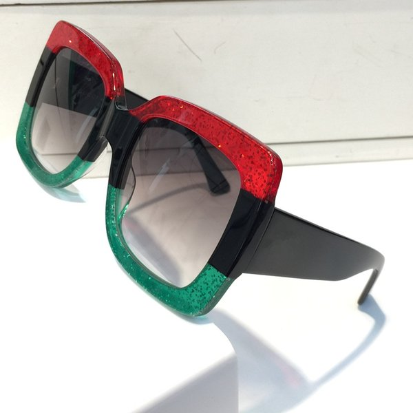 Роскошные 0083 женщин популярный дизайнер солнцезащитные очки квадратный летний стиль для женщин глаз очки высокое качество UV400 смешанный цвет с случае 0083S