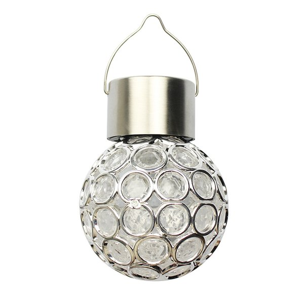 Waterproof Solar Power Ball Outdoor Path Landscape Hang LED Night Light Bulb Garden Hang Light Lamp Garden Decoration LED Night Light Bulb