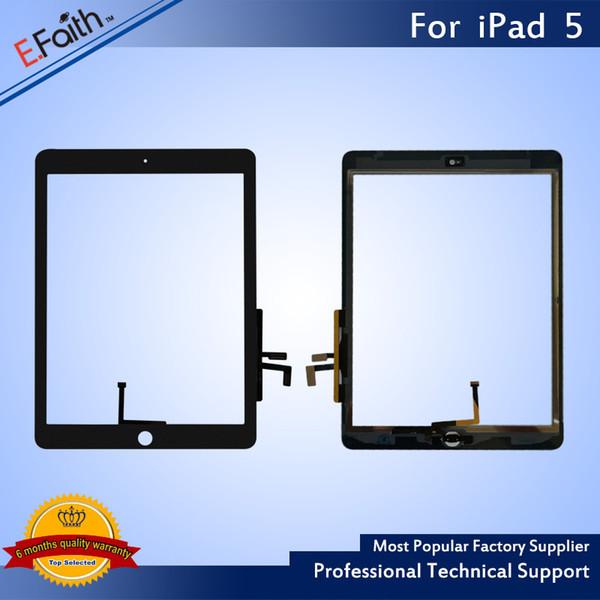 Digitalizador táctil de alta calidad para iPad Air Pantalla táctil Digitalizador Reemplazo + Adhesivo para iPad 5 pantalla táctil
