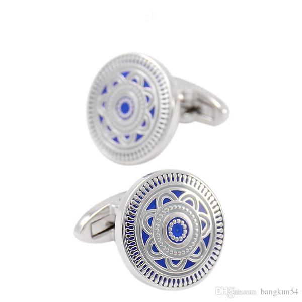 Ücretsiz Kargo-Avrupa'nın en popüler Mavi emaye butik iş kol düğmeleri
