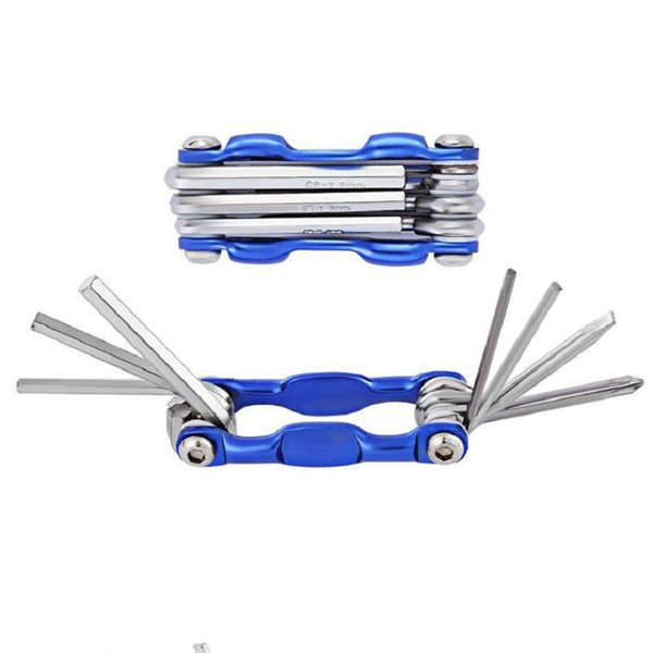 Commercio all'ingrosso 7 in 1 attrezzi della bicicletta imposta il cacciavite esagonale del ciclo della montagna della chiave inglese della chiave dello strumento della riparazione multi esente da trasporto