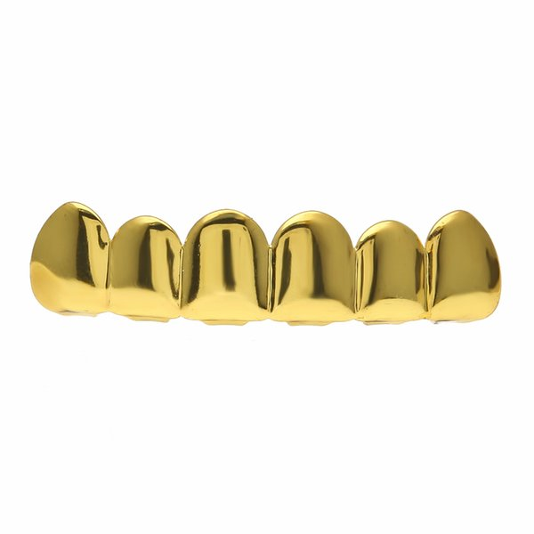 Hip Hop 24k Gold Rhodium Plated Teeth Grillz Top Bottom Grill For Halloween Christmas Party Vampire Teeth For Men