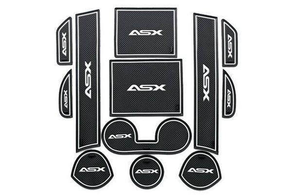 HOT 2017 Non slip Interior door pad cup mat door gate slot mat for Mitsubishi ASX 2013 2014, 12pcs / lot car-styling car cover