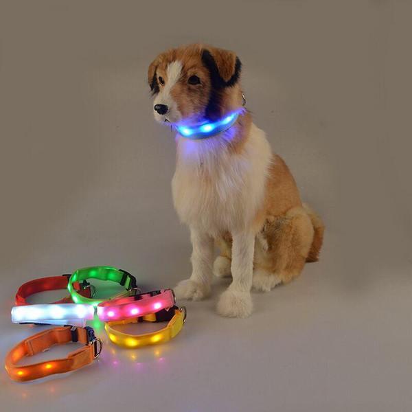 D35 Pet Dog led Collar Pet dog traction supplies light-emitting luminous dog collars free shipping