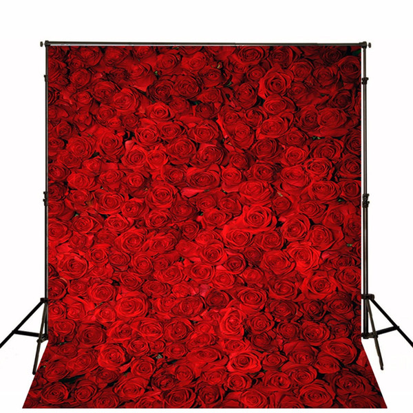 top popular Computer Printed 3D Red Roses Photo Backgrounds Flower Wall Back Drop Romantic Valentines Day Wedding Photography Studio Backdrops 2019