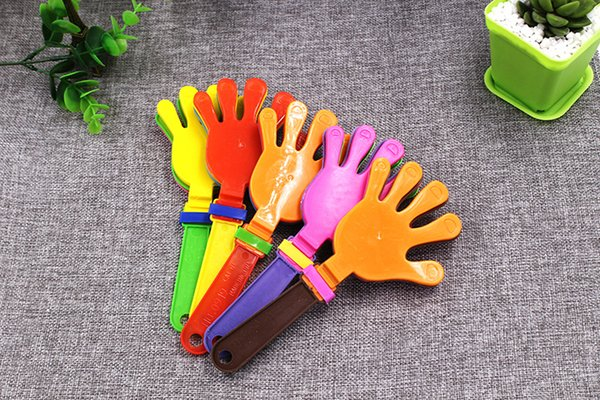 Wholesale Free shipping Plastic Hand clapper clap toy cheer leading clap for Olympic game football game Noise Maker Baby Kid Pet Toy