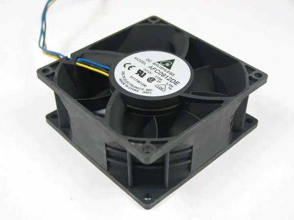 Free Shipping For Delta AFC0912DE, -L720 DC 12V 3.00A 4-wire 6-pin connector 100mm 90X90X38mm Server Square Cooling Fan