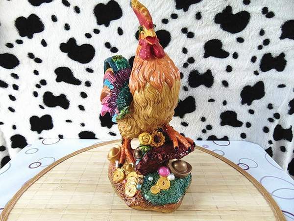 The decoration craft gift money decoration decoration supplies large hen simulation animal gold chicken