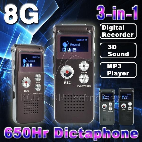 Wholesale-3.5mm Stereo Socket Mini USB Flash Pen Disk Drive 8G Digital Audio Voice Recorder 650Hr Dictaphone MP3 Player Grabadora Gravador