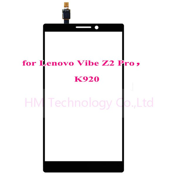 """Wholesale-6.0"""" Black TP for Lenovo Vibe Z2 Pro K920 Touch Screen Digitizer Front Glass Panel Sensor No LCD Replacement Free Shipping+Tools"""