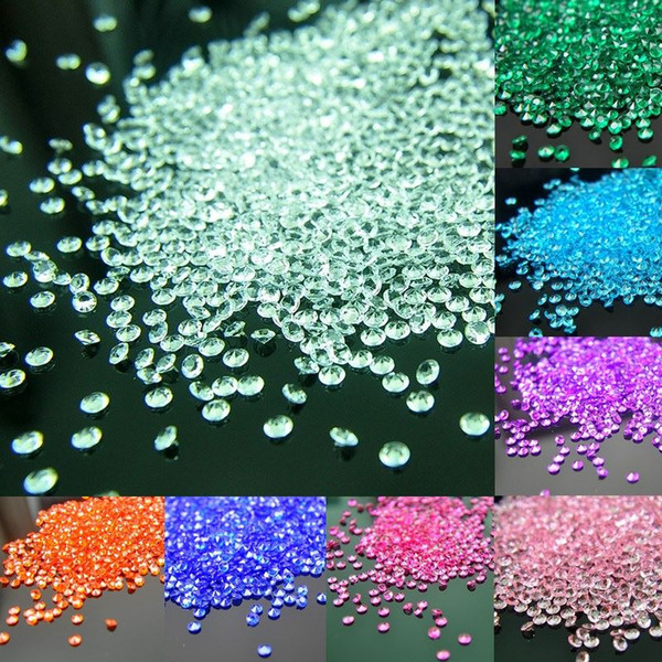 2000 adet / grup 4.5mm Dağılım Masa Kristaller Diamonds Akrilik Konfeti Düğün Doğum Günü Mezuniyet Partisi Dekorasyon Şenlikli Malzemeleri