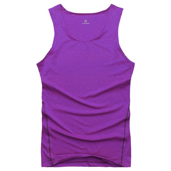 Wholesale- Men Cool Vest Shirt Top Wicking Breathable Vest Tight New Arrival