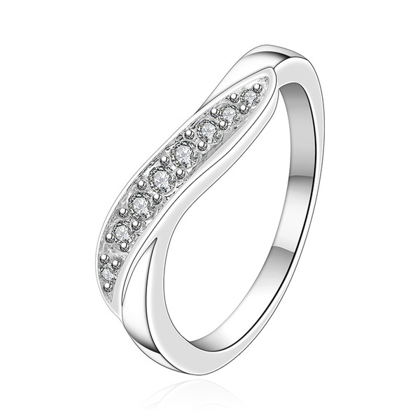 Free shipping Wholesale 925 Sterling Silver Plated Fashion Twisted shape ring Jewelry LKNSPCR159