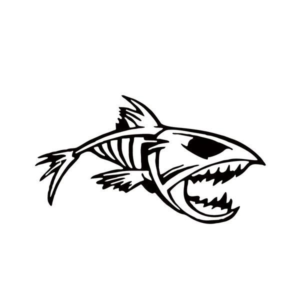 Mouth Skeleton Tribal Fish Vinyl Decal Kayak Fishing Car Truck Boat Car Styling Accessories JDM